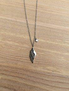 Náhrdelníky - náhrdelník s krídlom - oceľ - 11918699_