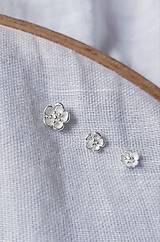 Náušnice - napichovacie náušnice - čerešňové (sakurové) kvety (Napichovacia náušnica Sakura 5,3) - 11918531_