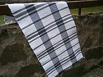 Úžitkový textil - tkany koberec bielo sivy - 11924748_