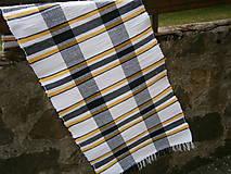 Úžitkový textil - tkany koberec kockovany - 11924863_