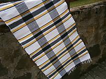 Úžitkový textil - tkany koberec kockovany - 11924866_