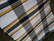 Úžitkový textil - tkany koberec kockovany - 11924867_