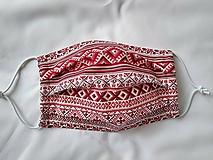 Rúška - Rúško folklór červené jednovrstvové/dvojvrstvové - 11925317_