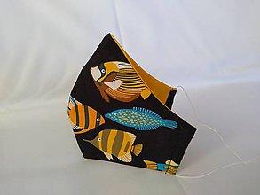 Rúška - Dizajnové rúško tropické ryby tvarované dvojvrstvové - 11926729_