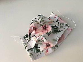 Rúška - Jednovrstvové bavlnené Rusko  Kvety  - 11926592_
