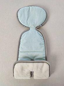 Textil - Podložka do autosedačky vajíčka 0+  0-13 kg 100% Merino proti poteniu a prechladnutiu - 11927210_