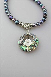 Náhrdelníky - náhrdelník perly s príveskom - 11923142_