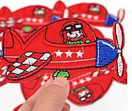 Galantéria - Nažehľovačka textilná lietadlo 10 x 5,5 cm - 11924966_