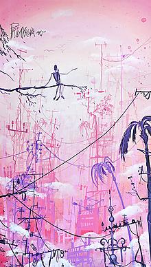 """Obrazy - """"Mestská džungla"""" MAĽBA  60cm x 30cm - 11925741_"""