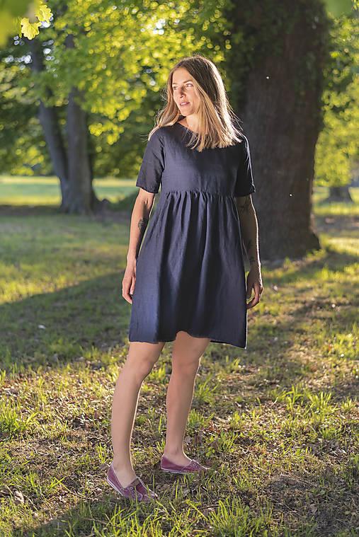 Šaty - miljö ľanové šaty - majstång - 11924010_