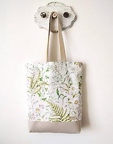 Nákupné tašky - Taška lúka s papraďou - 11924530_