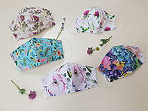 Rúška - Dizajnové bavlnené rúško - Flowers premium - 11926832_