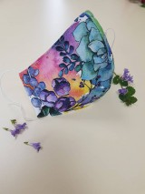 Rúška - Dizajnové bavlnené rúško - Flowers premium - 11926940_