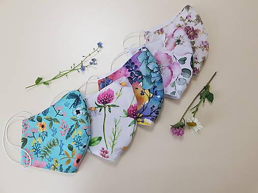 Dizajnové bavlnené rúško - Flowers premium