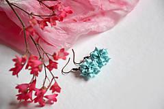 Náušnice - Rozkvitnuté ruže, náušnice, fimo - 11923780_