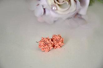 Náušnice - Rozkvitnuté ruže, náušnice, fimo - 11923626_