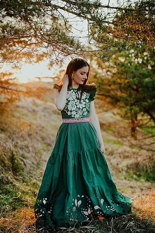 zelené madeirové šaty Poľana