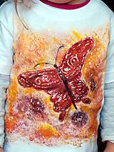 Tričká - Detské tričko  maľované Motýľ - 11922900_