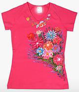 Tričká - Dámske tričko Kvety - 11926824_