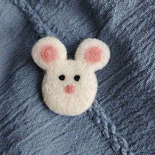 Brošne - Plstená brošňa myška - 11927358_