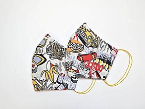 Rúška - Textilné rúško na tvár dvojvrstvové CRAZY - 11927182_