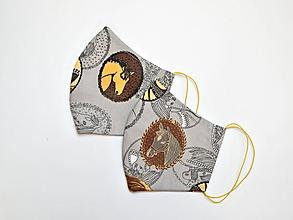 Rúška - Textilné rúško na tvár dvojvrstvové pre deti - KONE - 11927206_