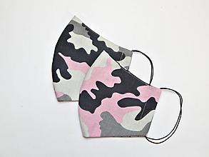 Rúška - Textilné rúško na tvár dvojvrstvové pre deti - šírka cca 10 cm - 11927370_