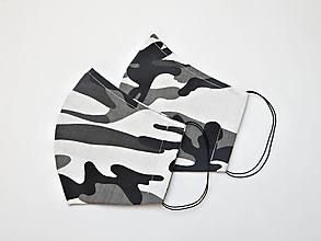 Rúška - Textilné rúško na tvár dvojvrstvové - MASKÁČOVÉ pre mužov - 11927387_
