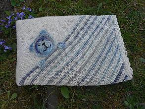 Textil - Pletená detská deka z ručne pradenej vlny - 11928552_