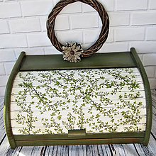 Nádoby - Chlebník- zelená halúzka - 11928029_