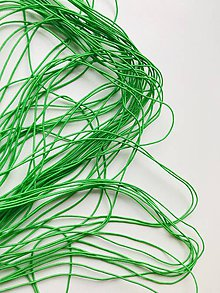 Galantéria - Klobúková guma 1 mm zelená - 11931745_