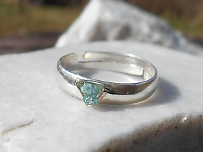 Prstene - blue diamond ring-nature-modrý diamant - 11933640_
