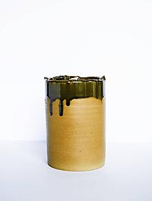 Dekorácie - Váza so zelenou glazúrou - 11929883_