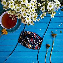 Rúška - Dámské dvouvrstvé rúško - flowers n.1 - 11932737_