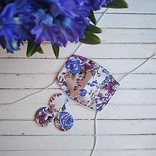 Rúška - Dámské dvouvrstvé rúško - french rose - 11932763_