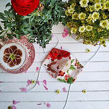 Rúška - Dámské dvouvrstvé rúško - japonké květy n.2 - 11932794_