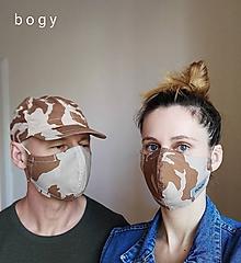 Čiapky - vyber si, maskáčová rouška, kšiltovka, nebo obojí - 11929074_