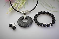 Sady šperkov - láva prívesok náramok a náušnice SUPERAKCIA! - 11932858_
