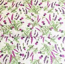 Textil - levanduľa, 100 % bavlna, šírka 140 cm - 11929489_