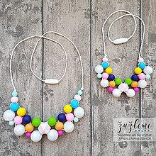 """Náhrdelníky - Set náhrdelníkov mama a dcéra """"Kvetinový záhon"""" - 11933026_"""
