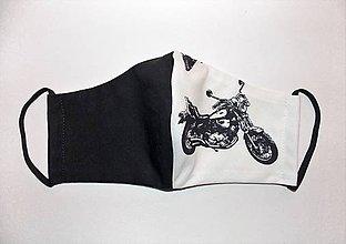 Iné - Rúško pre chlapov Easy Rider black&white harley II - 11933483_