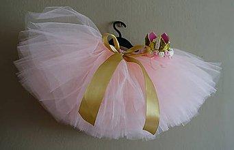 Detské súpravy - Narodeninová tutu súprava v ružovo zlatej - 11931497_