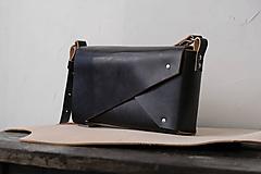 Kabelky - Kožená kabelka BLACK PEAK Veľká - 11933214_