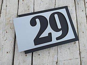 Tabuľky - Popisné číslo Avantgard I. (3 čísla) - 11929898_