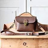 Kabelky - Kožená kabelka *crazy brown* No.3 - 11928861_