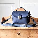 Kabelky - Kožená kabelka *crazy blue* No.3 - 11929354_