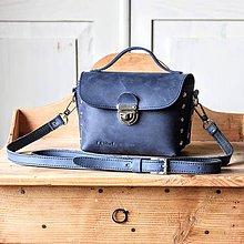 Kabelky - Kožená mini kabelka *Crazy Blue* - 11929354_