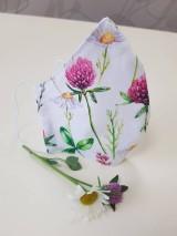 Rúška - Letné bavlnené rúško - maľovaná záhrada (Dvojvrstvové 100% bavlnený satén + 100% bavlnený popelín) - 11932038_