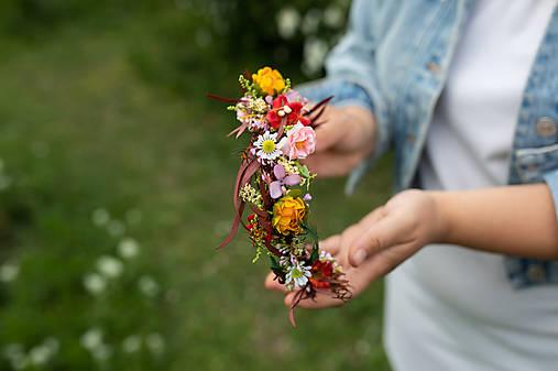 """Kvetinový polvenček """"natrhám si šťastie"""" - na ukážku"""