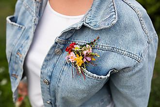 """Odznaky/Brošne - Kvetinová brošňa """"natrhám si šťastie"""" - na ukážku - 11928946_"""